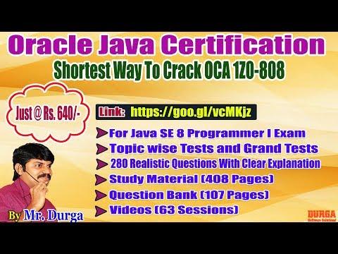 Importance of Java Certification ( OCJA: 1Z0-808 ) Syllabus,Sample ...