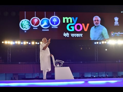 PM Narendra Modi at Town Hall marking two years of MyGov