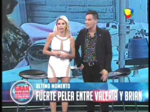 Adelanto de la pelea Brian Vs Valeria GH 2015 #GH2015 #GranHermano
