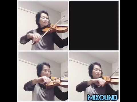 ヴァイオリンのアンサンブル動画を作成します ヴァイオリンを含む多重録画を作成します。伴奏も可能です。 イメージ1