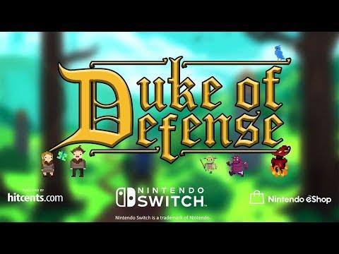 Duke of Defense - Nintendo Switch Launch Trailer - E3 Gameplay thumbnail