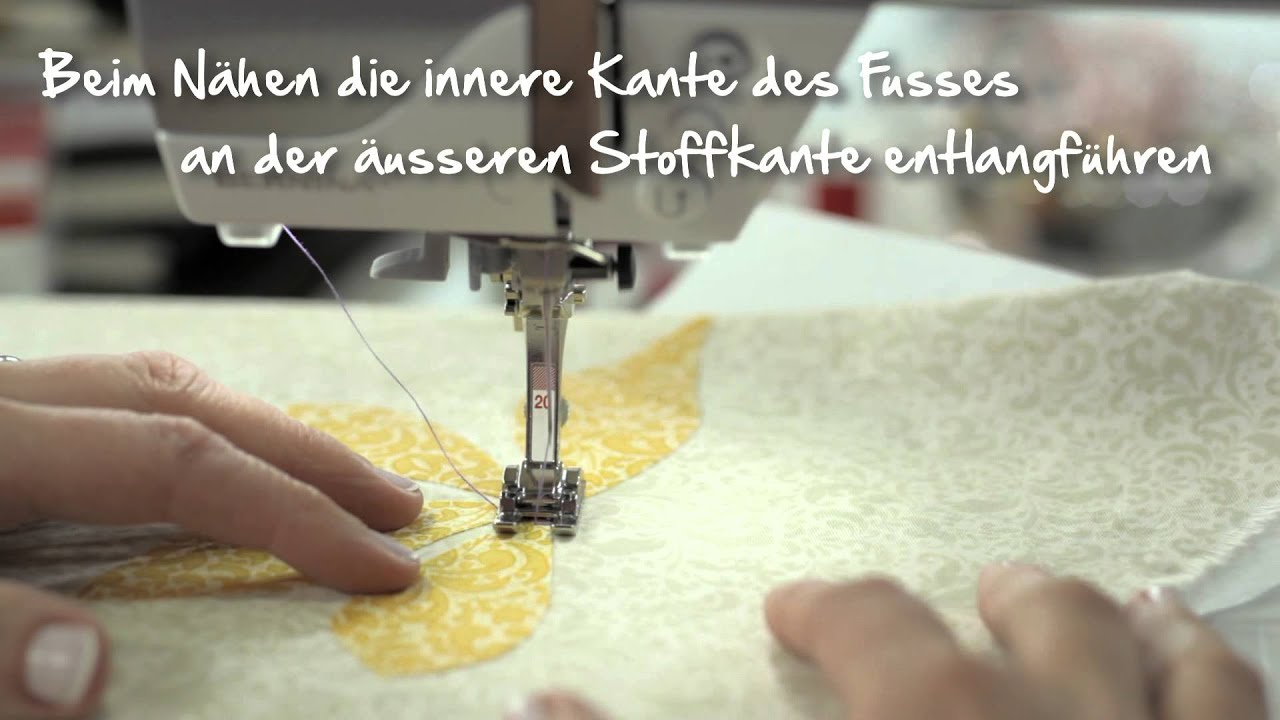9/10 BERNINA 530 och 550 QE: Enkel kviltapplikation med Paris Point-stygn
