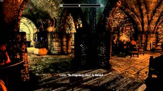 SKyrim Test Footage With SoS + New Bard Songs Mods