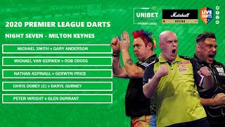 Premier League Darts 2020 Night Seven Preview & Predictions: Can Duzza retain top spot in MK?