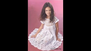 Платье Крючком для Девочки 6 лет - 2017 / Dress Hook for Girl 6 years old / Gehäkelte Kleid