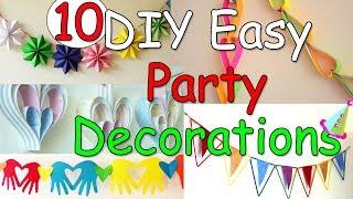 10 DIY Easy Party Decorations Ideas - Ana | DIY Crafts