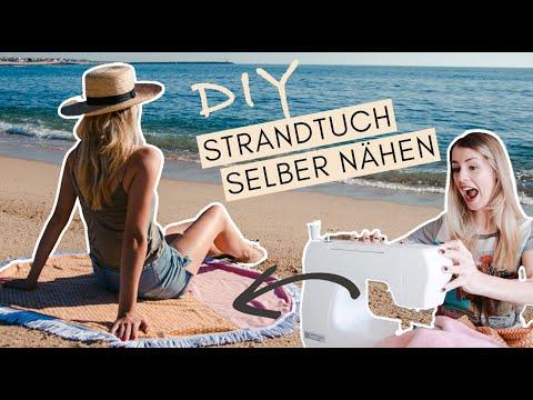 DIY Roundie Towel - Rundes Strandtuch aus Handtüchern selber nähen #upcycling