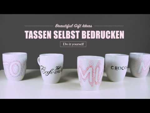 Tassen bemalen / Tassen bedrucken - toll als Geschenkidee oder für die Küche
