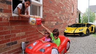 McDonald's Drive Thru Prank Bad Kids and Bad Baby on Disney Cars McQueen Power Wheels  Ride On Car
