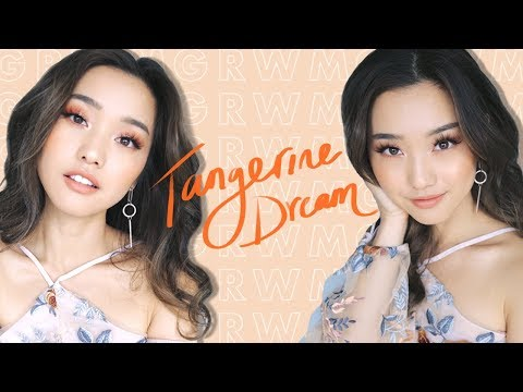 Soft Spring Tangerine Makeup | Get Ready With Me
