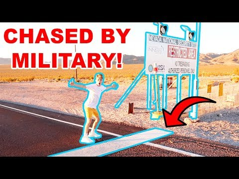 CROSSING THE LINE AT AREA 51! *CHASED BY COPS*