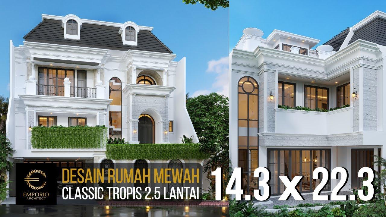 Video 3D Desain Rumah Classic 2.5 Lantai Ibu Gina - Bandung, Jawa Barat