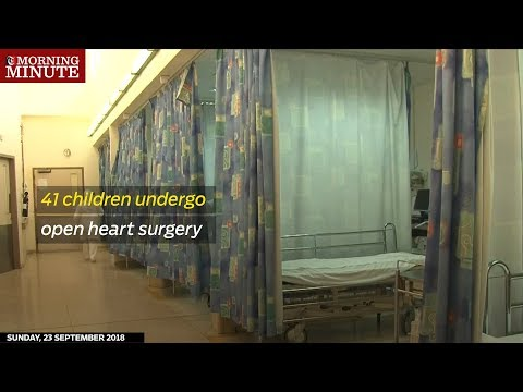 41 children undergo open heart surgery