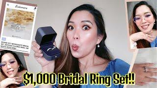 Esdomera Moissanite Bridal Ring Set  Review || 2 Ct Antique Filigree Ring Review || Giaclord