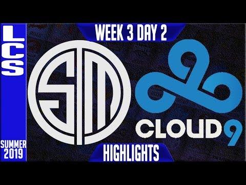 TSM vs C9 Highlights   LCS Summer 2019 Week 3 Day 2   Team Solomid vs Cloud9
