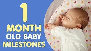 1 Month Old Baby Milestones