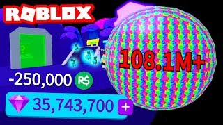250,000 ROBUX OF GEMS IN BUBBLE GUM SIMULATOR (Roblox)