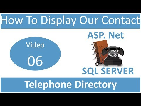 how to display our added contact in telephone directory