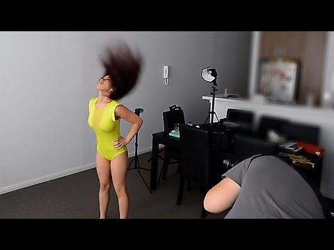Live Photoshoot - dynamic HAIR FLICK portraits