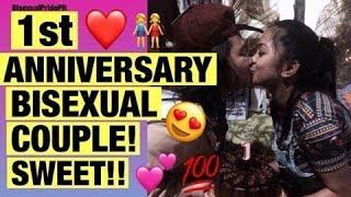 1st Anniversary Bisexual Couple 🌈