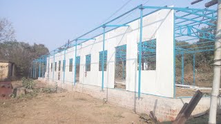 Installation of Prefab House#PRE-FAB HOUSE IN TATA STEELS#SAI STRUCTURES INDIA,#SSI LABOUR HUTMENT