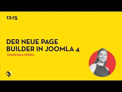 JD19DE - Der neue Page Builder in Joomla 4
