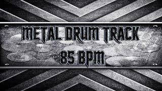 Stoner Metal Drum Track 85 BPM (HQ,HD)