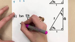 Finding Exact Trig Values Using Special Angles (Radians)