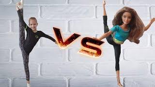 Гимнастка Ника против куклы Barbie.Гимнастический челлендж.