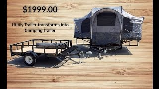 Camping Trailer And Utility Trailer 2 IN 1 COMBO #camping #tent #cozy #tenttrailer