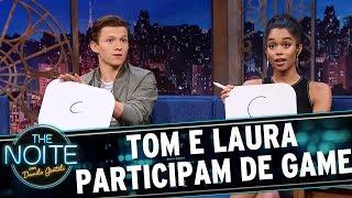 Tom Holland e Laura Harrier adivinham os nomes BR dos super-heróis | The Noite (05/07/17)