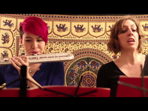 """Performing Kate Soper's """"only the words themselves mean what they say"""" with Leanna Keith, flute"""