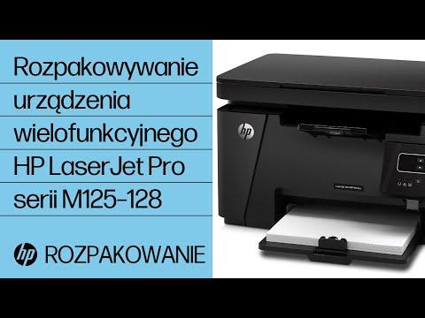 Rozpakowywanie urządzenia wielofunkcyjnego HP LaserJet Pro serii M125–128