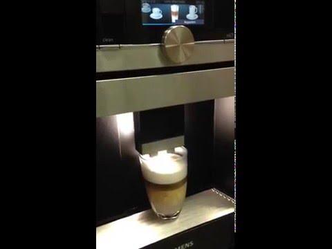 Siemens CT636LES1 Einbau-Kaffeemaschine Latte macchiato