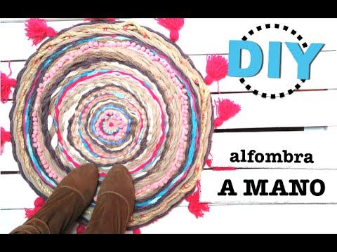 DIY | COMO HACER ALFOMBRA REDONDA CON UN HULA HOOP | TEJIDO A MANO | RESULTADOS SORTEO  ♡ STEFFIDO