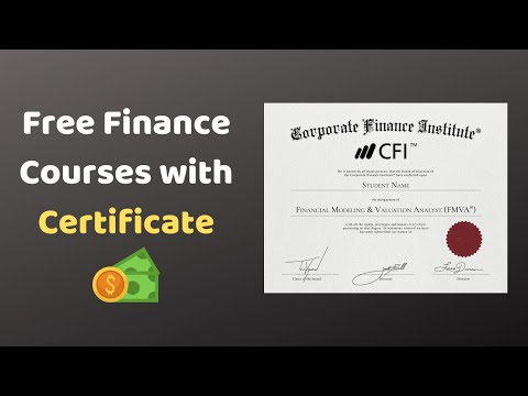 Free Finance Courses with Certificate | The Engineer Guy - YouTube