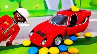 Мультики про машинки. Игрушки в пене и сладкий Шоколадный Медведь. ЛЕГО Мультфильмы для детей