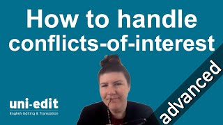 Publish Your Research | How to handle conflict-of-interest for your journal paper