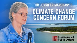 Dr Jennifer Marohasy at Climate Change Concern Forum in Maroochydore
