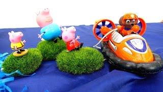 Пеппа и Щенячий Патруль. Детский канал: игрушка Свинка Пеппа ТОНЕТ!  #ЩенячийПатруль, ты где?
