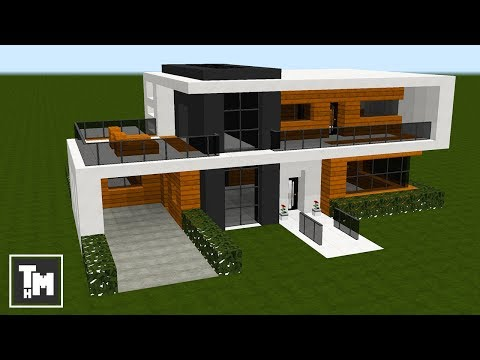 minecraft how to build modern house