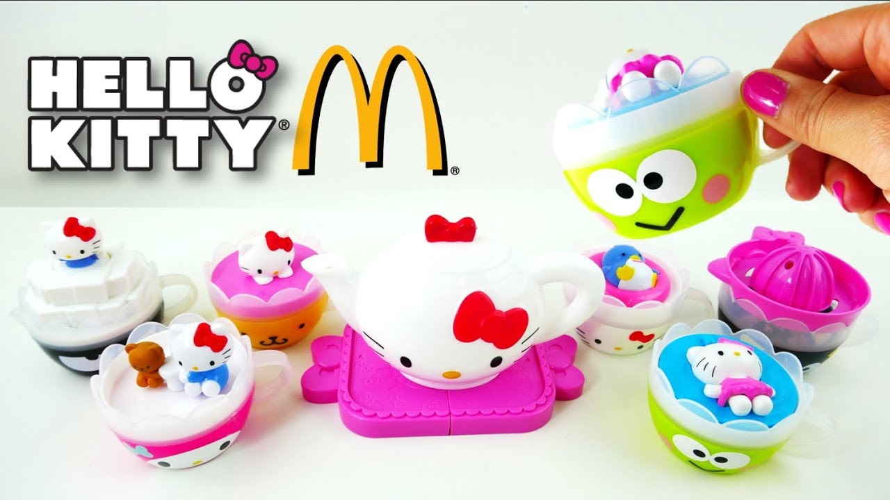 McDonalds Hello Kitty Tea Set Happy Meal Toys 2017 Full Set | Evies Toy House