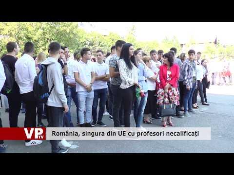 România, singura din UE cu profesori necalificați