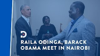 Former US President Barack Obama meets ODM leader Raila Odinga