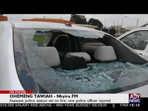 Asawase Police Station Set On Fire - The Pulse On JoyNews (19-7-18)