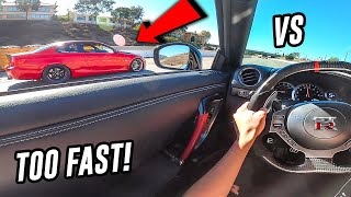 BIG TURBO 335I VS NISSAN GTR!! (TOO FAST!) - POV DRIVE!