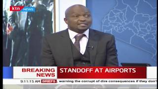 Moses Kuria shares his view on airport standoff