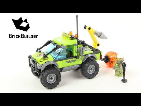 Vidéo LEGO City 60121 : Le camion d'exploration du volcan