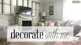 SPRING DECORATE WITH ME | MOBILE HOME LIVING ROOM