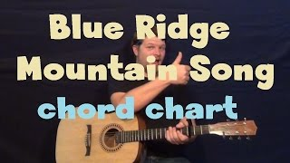 Blue Ridge Mountain Song (Alan Jackson) Guitar Chord Chart